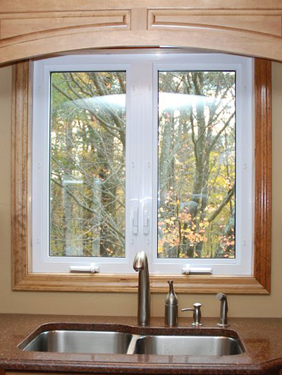 casement window in a kitchen