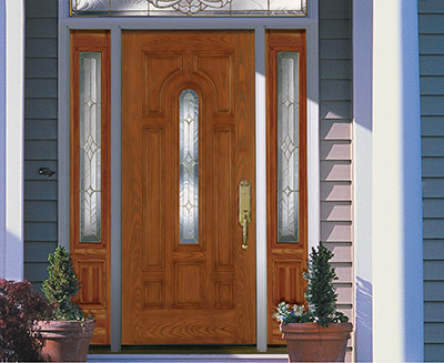 heritage fiberglass entry door