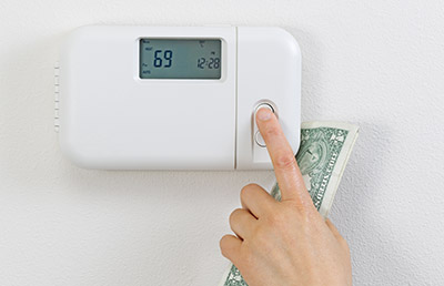 changing thermostat and holding money