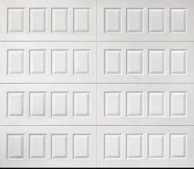raised garage door panel