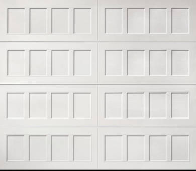 recessed garage door panel