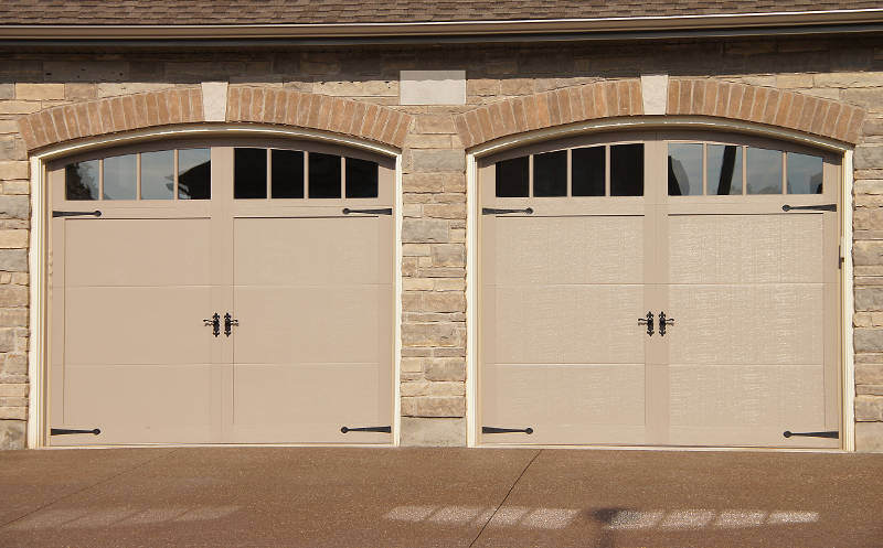 double garage doors with windows