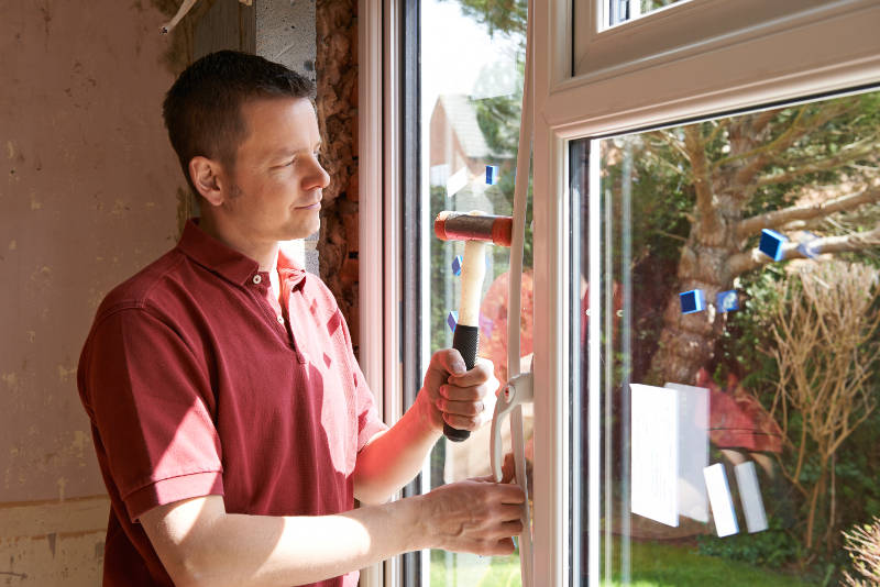 a guy installing windows