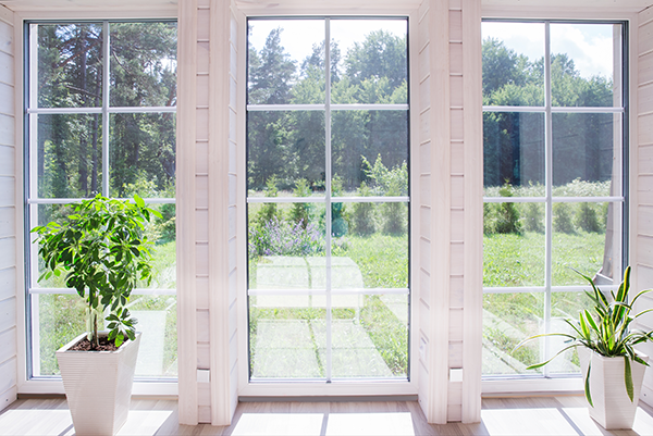 white colored vinyl windows
